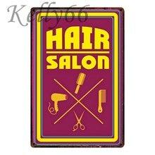 Kelly66  Hair SALON Targa in metallo Retro Poster Barber Shop Decor Bar  Arte Della Parete Della Pittura 20 30 CM formato Y-1053 3ea475274187