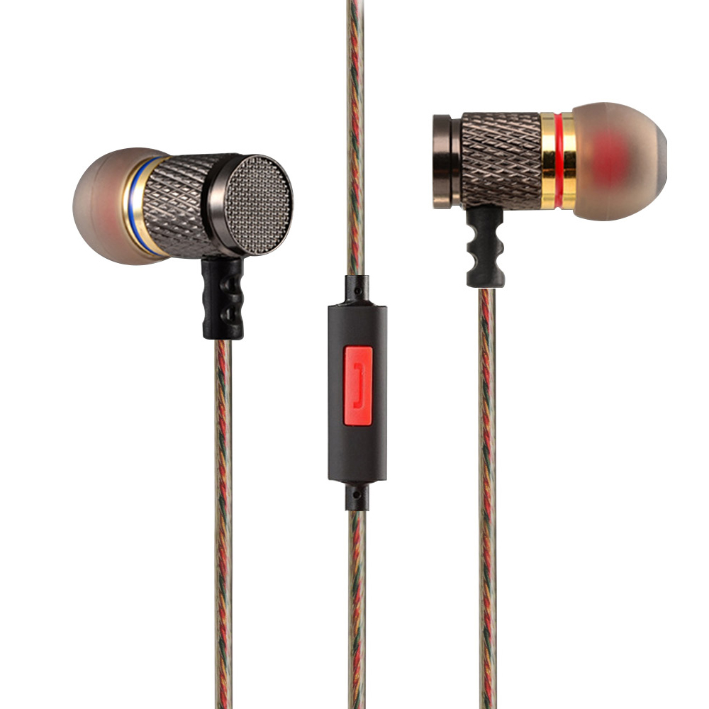 In-Ear Earphone KZ EDR1 Wire 3D Stereo Bass With Metal Noise Reduction Earbuds With/Without Mic For  Xiaomi Iphone Samsung kz ed7 bamboo wood in ear bass stereo earbuds with mic gold