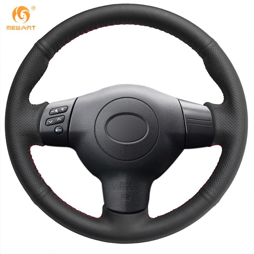 MEWANT Black Genuine Leather Car Steering Wheel Cover for Toyota Corolla 2004-2006 Caldina 2002-2007 toyota caldina модели 2wd