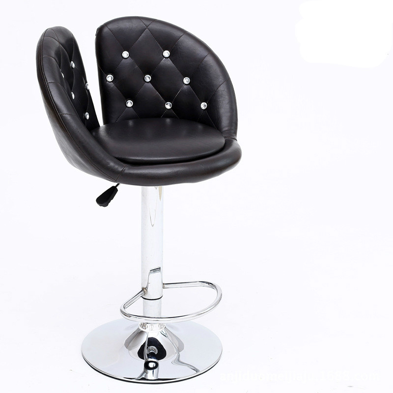 Ergonomic Lifting Swivel Bar Chair Rotating Adjustable Height Cafe Pub Bar Stool Chair Stainless Steel Stent cadeira 5 Colors high quality ergonomic lifting swivel bar chair rotating adjustable height pub bar stool chair pu material footrest cadeira