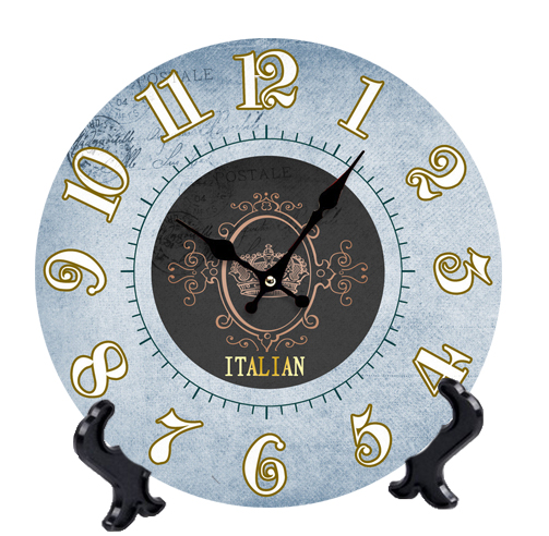 Wooden Wall Or Desk Clocks Italy Design Wood Table Clock Quartz MDF ...