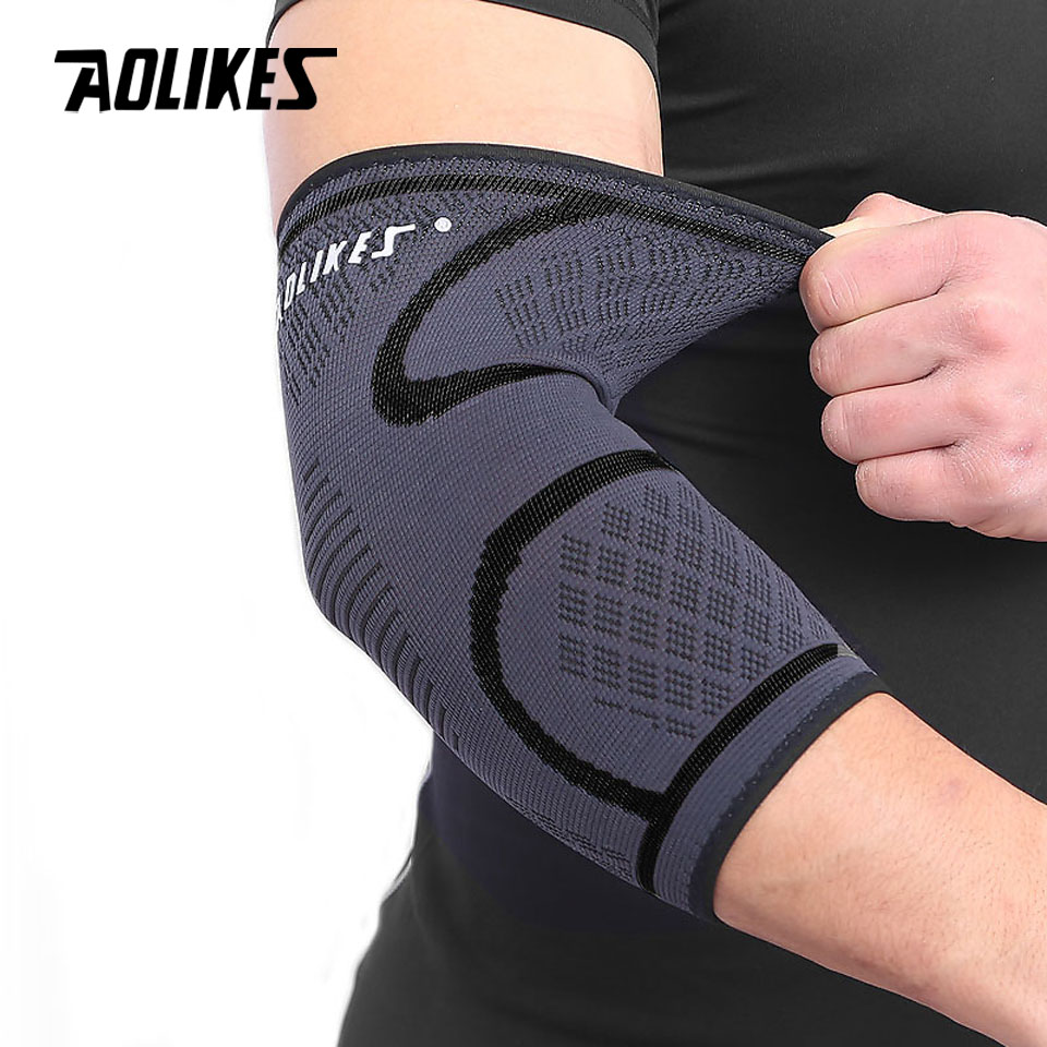 цена на AOLIKES 1PCS Breathable Elbow Support Basketball Football Sports Safety Volleyball Elbow Pad Elastic Elbow Supporter