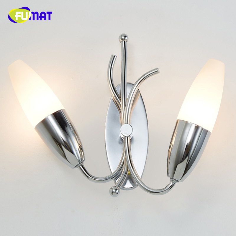 FUMAT Modern Chrome Wall Lamps Creative Lighting Wall lamp Simple Living Room Bedroom Bedside Lamp Corridor Aisle Lights modern fashion creative k9 crystal wifi design led 9w wall lamp for living room bedroom aisle corridor bathroom 80 265v 2063