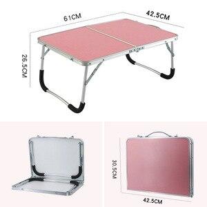 Image 1 - Faltbare Computer Tisch Tragbare Laptop Schreibtisch Drehen Laptop Bett Tisch kann Angehoben Stehenden Schreibtisch Tragbare Home Möbel