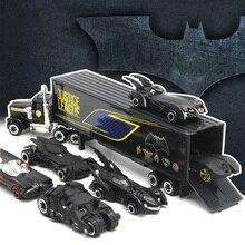 シミュレーション1:64合金の車セットジャスティスリーグのバットマンバットモービルdiecastsおもちゃ車おもちゃの車のモデル子供のためのおもちゃ