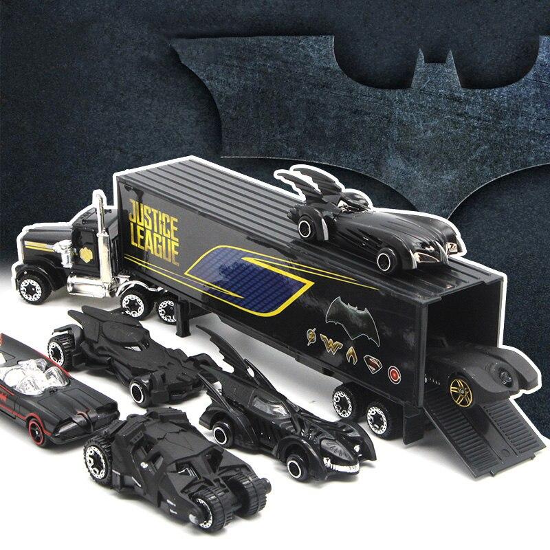 Simulación de 1: conjunto de coches de aleación 64 de la Liga de la justicia Batman Batmobile Diecasts y vehículos de juguete juguetes modelo de coche para niños