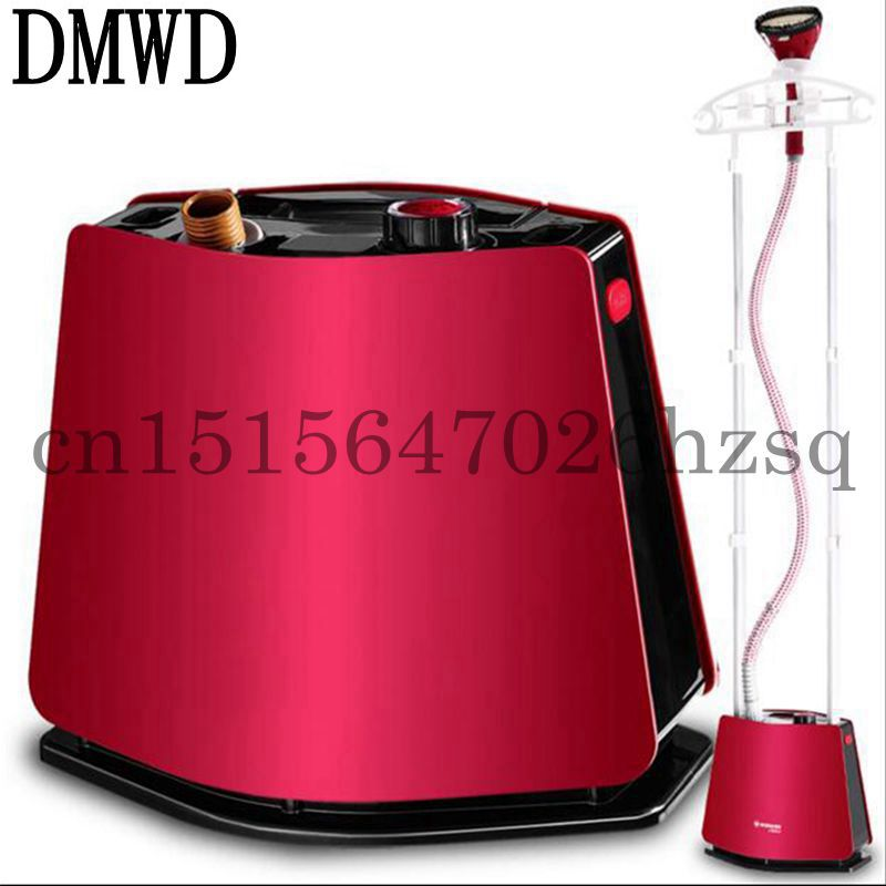 DMWD Household Electric High Power Handheld Steam hanging ironing machine Solid double pole streamlined body fashion Red
