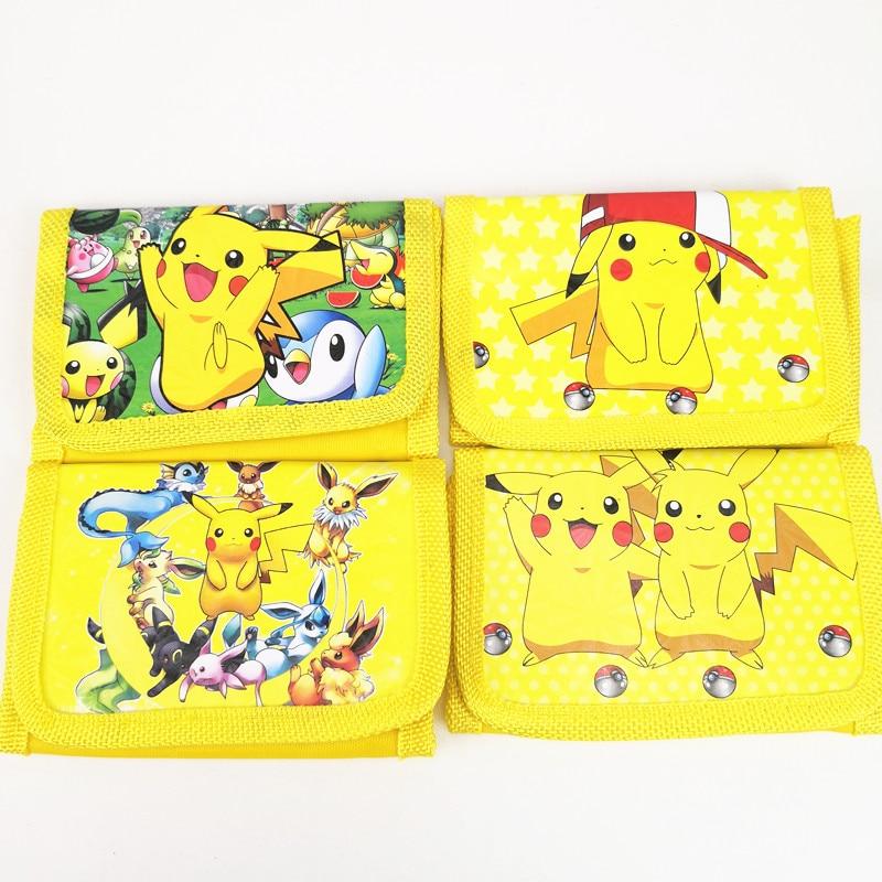12pcs Pokemon Go Money Bag Mini Coin Purse Pikachu Cartoon Wallet Christmas Party Favors For Kids Boy Girl Birthday Decoration