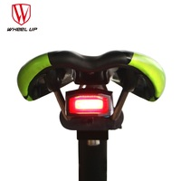 WHEEL UP Anti Theft Bike Alarm Light Bicycle Taillights Waterproof Security MTB Bike Rear Light Lamp