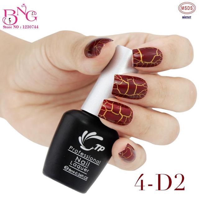 2pcsset New Trendy Crackle Style Nail Art Polish Gel Uv Led Light
