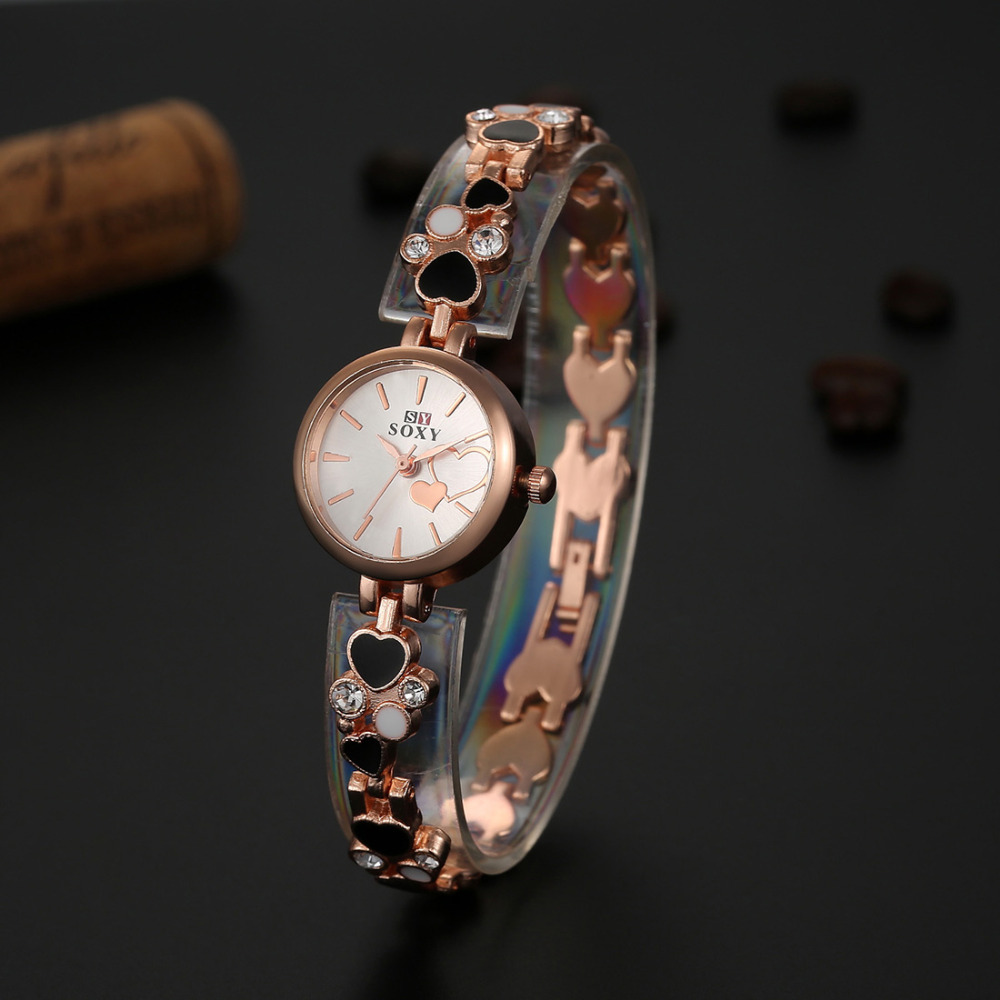 2016 SOXY Brand Watch Women Watches Luxury Rhinestone Bracelet Watch Fashion Gold Quartz Watch Hour relogio feminino reloj mujer geneva brand fashion rose gold quartz watch luxury rhinestone watch women watches full steel watch hour montre homme reloj mujer