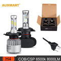 Auxmart S1 S2 H4 HB2 9003 Car LED Headlight Bulb CSP 6500K 8000LM Hi-Lo Dipped beam Fog Headlamps All-in-one 12V 24V DRL 50w 80w