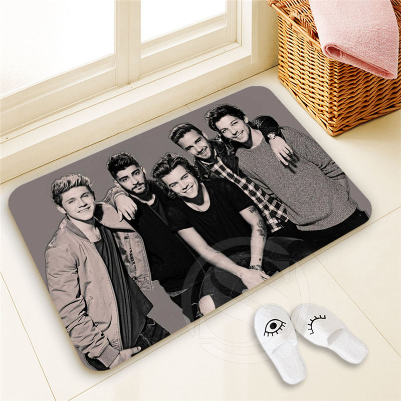 H-P369 Custom one direction #3 Doormat Home Decor 100% Polyester Pattern Door mat Floor Mat foot pad SQ00722-@H0369