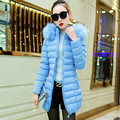 2016 New winter coat women fur collar beautiful white jackets long Women's winter jacket parkas cotton-padded women down coats