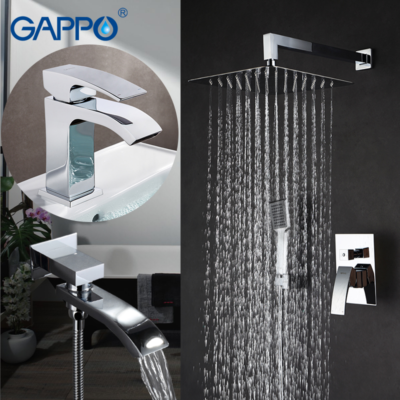 GAPPO Shower Faucets bathroom shower water tap bath tub mixer basin faucet water tap mixer rain
