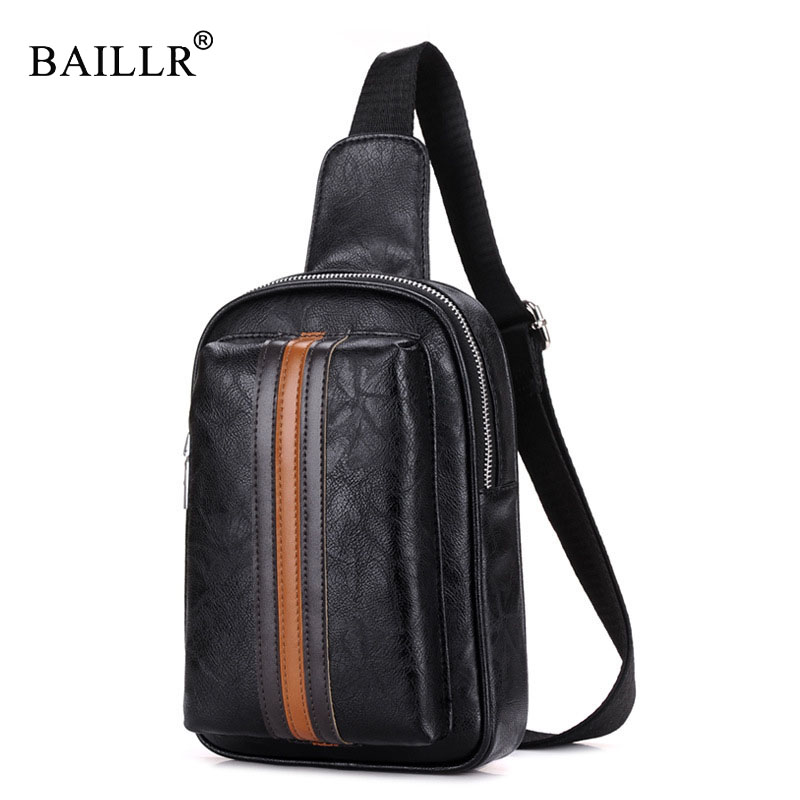 BAILLR Brand High Quality CHEST BAG MEN Patchwork Casual Bag Waterproof Single Shoulder Strap Pack Mens Travel Crossbody Bags