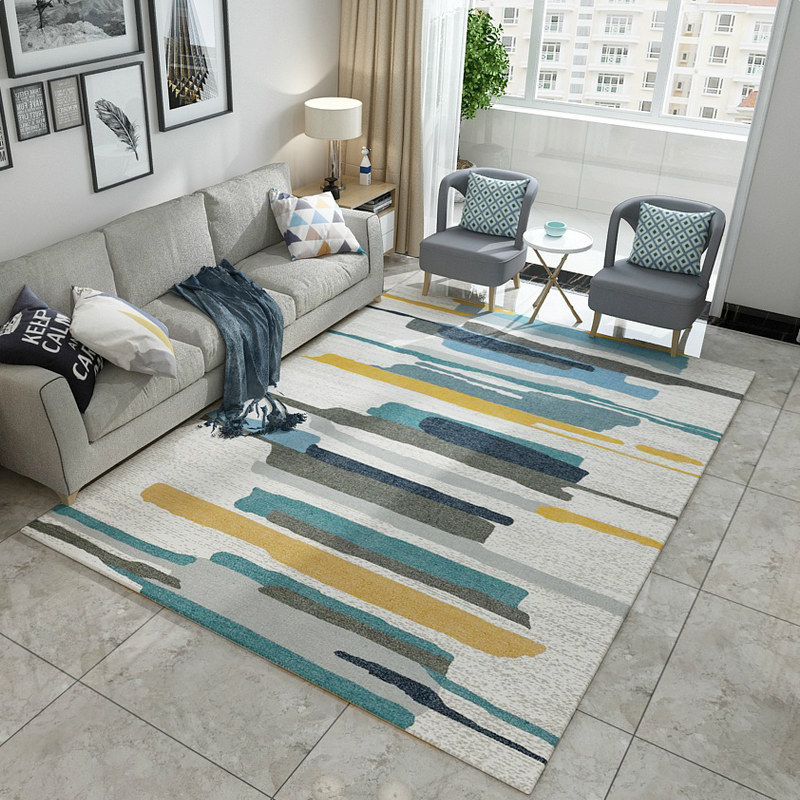 Geometric Simplicity Carpet Home Carpets For Living Room Soft Rugs For Bedroom Sofa Coffee Table Rug