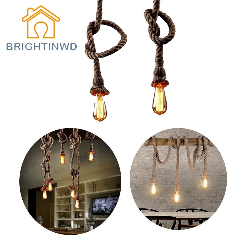 E27 Retro Vintage Seil Pendelleuchte Lampe Loft Kreative Persnlichkeit Industrielle Edison Birne American Style