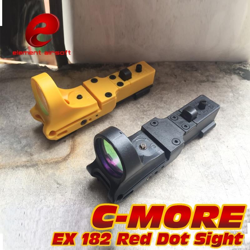 Element Airsoft chasse Softair chemin de fer Wapen réflexe C-MORE réglable tactique IPSC Airsoft point rouge vue pour pistolet Waffe Arma