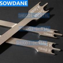 Stainless Steel Dental Orthodontic Bracket Positioning Height Wick Gauge Instrument Tool 0.022
