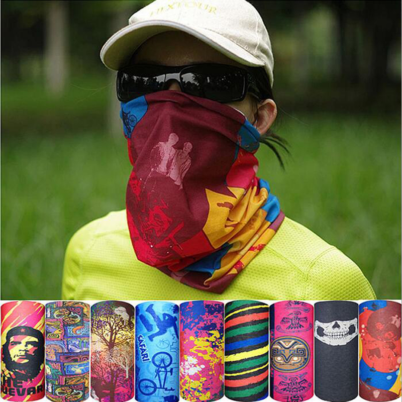 Outdoor Climbing Hiking Cycling Windproof UV Protection Camouflage Bandana Face Mask Neck Warmer Scarves cache cou scaldacollo недорого