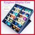 12F Calidad Hold12pcs Bandeja de la Exhibición caja De Almacenamiento caja de Gafas gafas de sol de las gafas de sol envío gratis