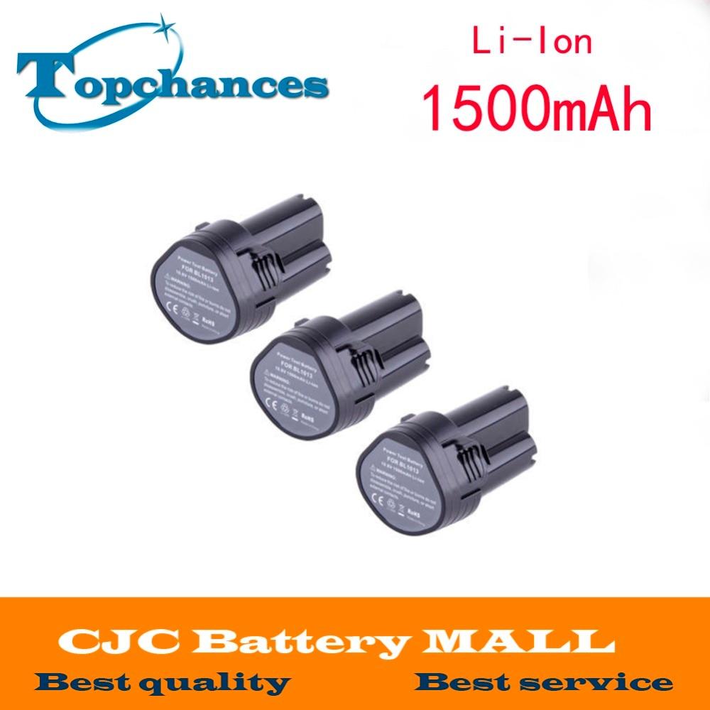 ФОТО 3x 1.5Ah Battery For Makita BL1013 BL1014 DF030D LCT203W 194550-6 194551-4 FD02W