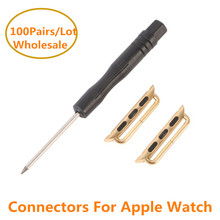 100Pairs 38mm 42mm Stainless Steel Connectors For Apple Watch Quick Release Buckle Adapter For iwatch Strap