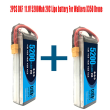 купить 2PCS 11.1V 5200Mah 3S 20C DXF Lipo Battery For Walkera QR X350 PRO RC Drone Quadcopter SPARE PARTS Walkera Upgrade Parts онлайн