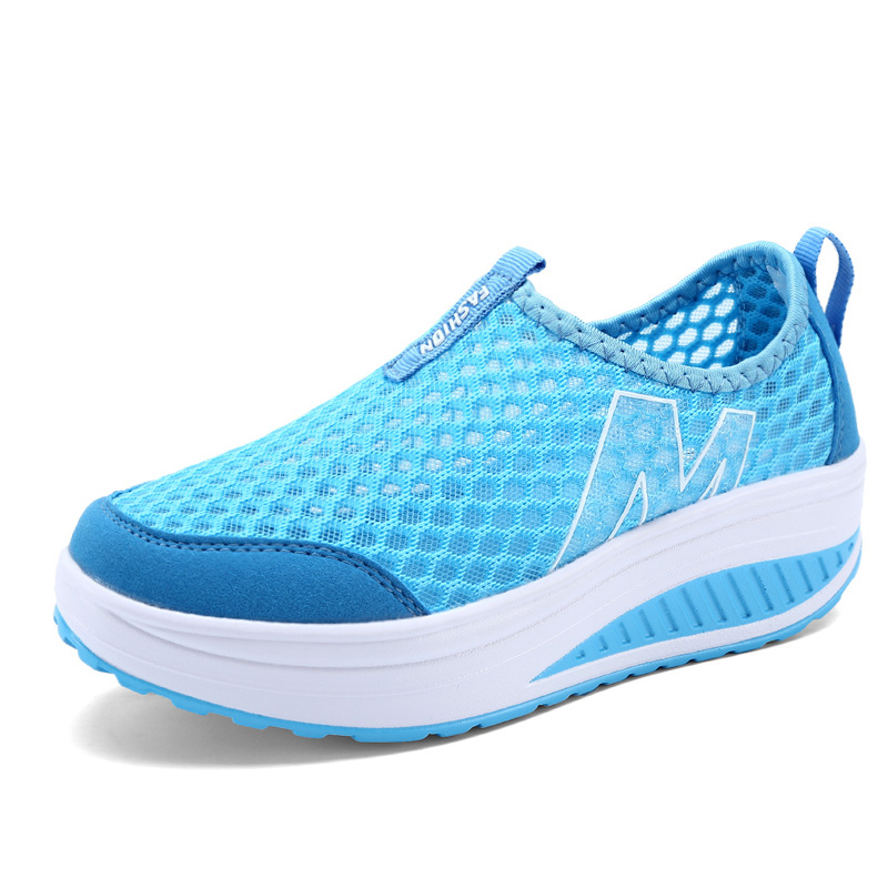 Women Casual Shoes Walking Height Increasing Platform Breathable Wedges Women Shoes Trainers Canvas Shoes Size 41 42 fashion embroidery flat platform shoes women casual shoes female soft breathable walking cute students canvas shoes tufli tenis