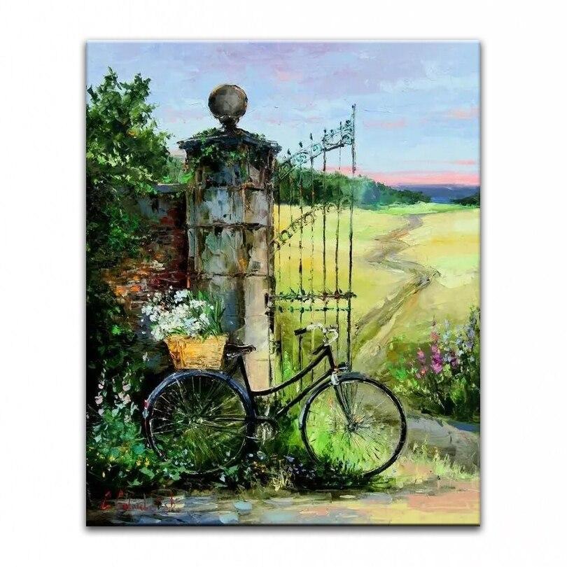 100% ručně malované olejomalba Domácí dekorace vysoce kvalitní obrazy krajinářský nůž DM16062802