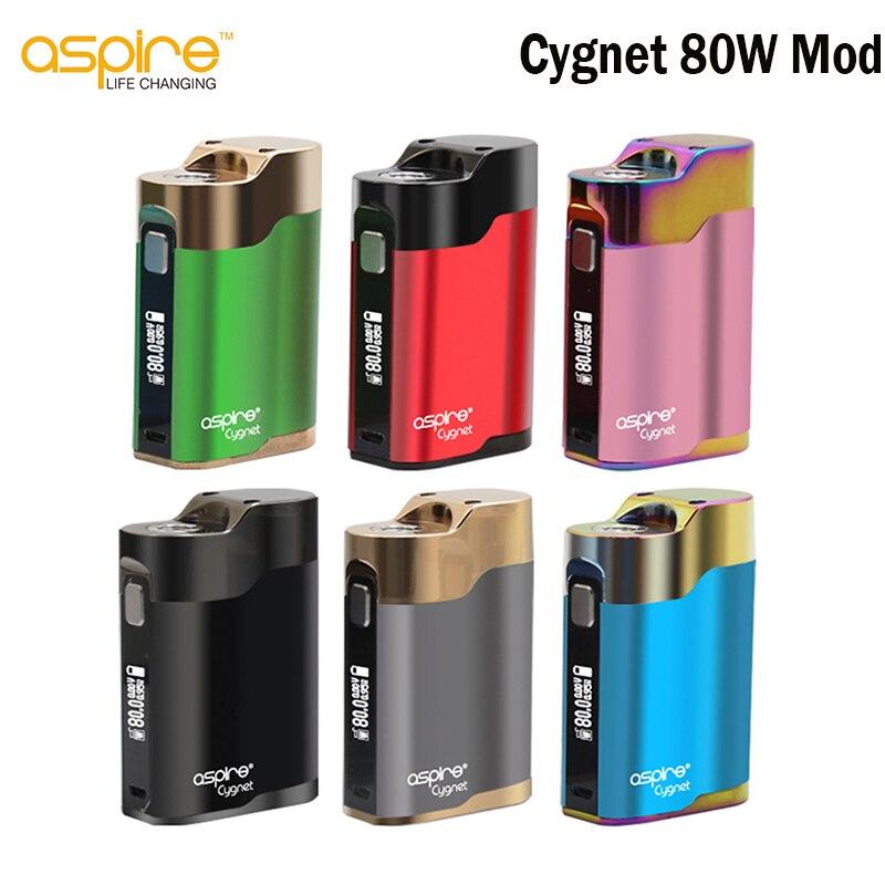 D'origine Aspire Cygnet 80 w Vaporisateur Boîte Mod 0.86 pouce Écran OLED Cigarette Électronique Mod Sans 18650 Batterie E cigarettes mod