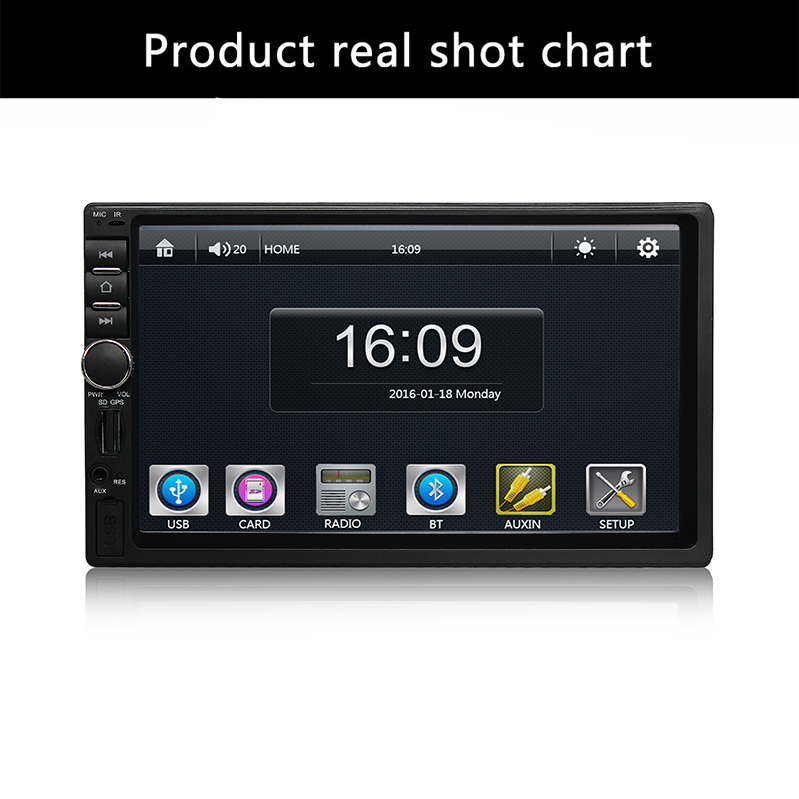 Input MP3/WMA/MP4/MP5 Russ/Portuguese/Spanish/Fre/USB/Bluetooth Auto Multimedia Player 2 Din MP5 Audio Player Remote Controller mp