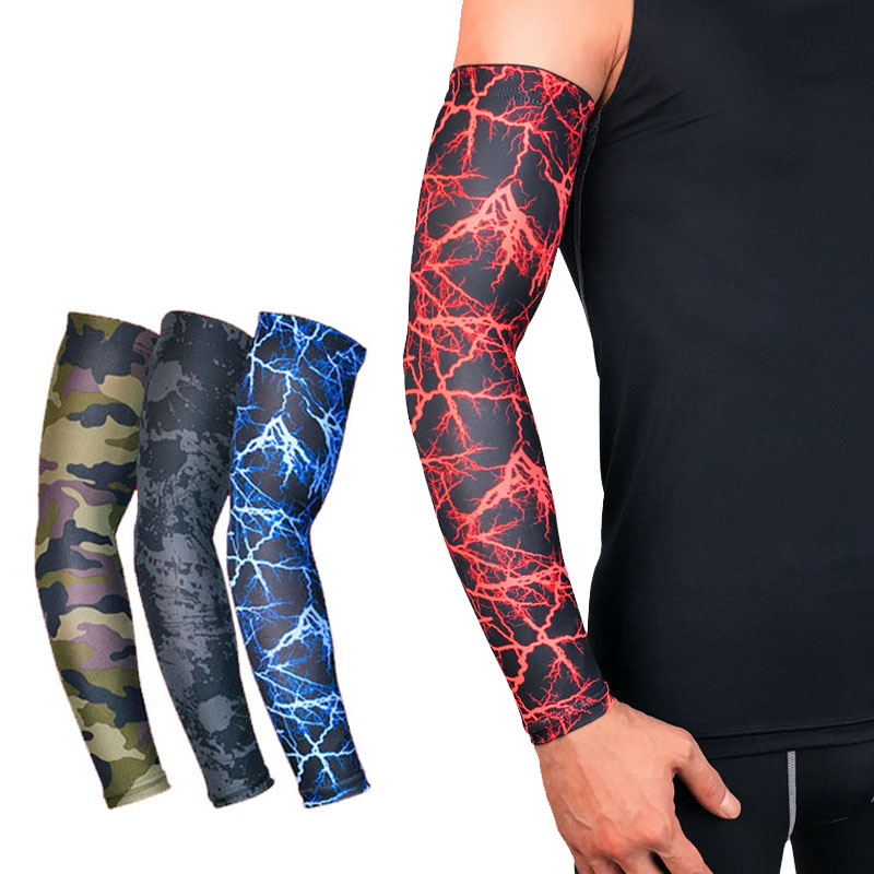 Bright Puimentiua Breathable Quick Dry Arm Sleeves Uv Protection Compression Running Basketball Elbow Pad Fitness Sports Arm Warmers Apparel Accessories