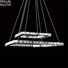 Современная прямоугольная светодиодная люстра 2 осветительных