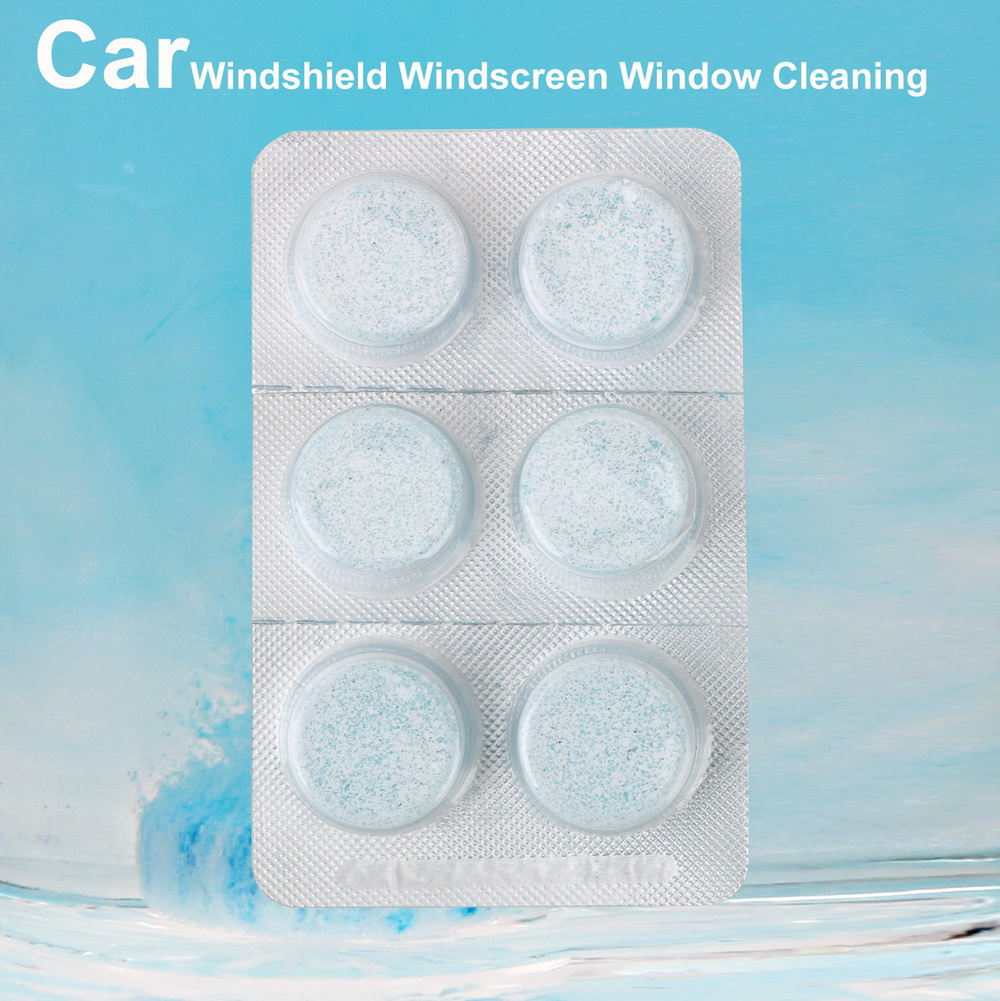 2pcs / 6pcs Solid Wiper Cleaner Car Windshield Windscreen Window Cleaning Auto Accessories For Home Glass Clean