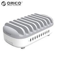 ORICO 10 Порты USB Зарядное устройство Док станция с держателем 120 Вт 5V2. 4A * 10 зарядка через USB для смартфонов Tablet PC Применить для дома общественных