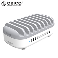 ORICO 10 Ports USB Charger Station Dock With Holder 120W 5V2 4A 10 USB Charging For