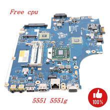NOKOTION Laptop motherboard Für Acer aspire 5551 5551G E640 DDR3 freies cpu NEW75 LA 5912P MBNA102001 MB. NA102.001 Mainboard