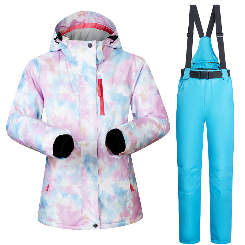Nouvelle veste et pantalon de Ski pour femmes d'hiver imperméable à l'eau Super chaud convient aux marques de vêtements de Ski et de Snowboard pour femmes - 6