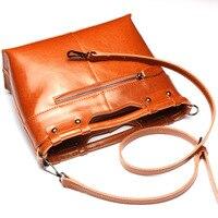 Hot Women Leather Handbags Special Offer Genuine Leather Bags Women Messenger Bag Splice Grafting Vintage Shoulder