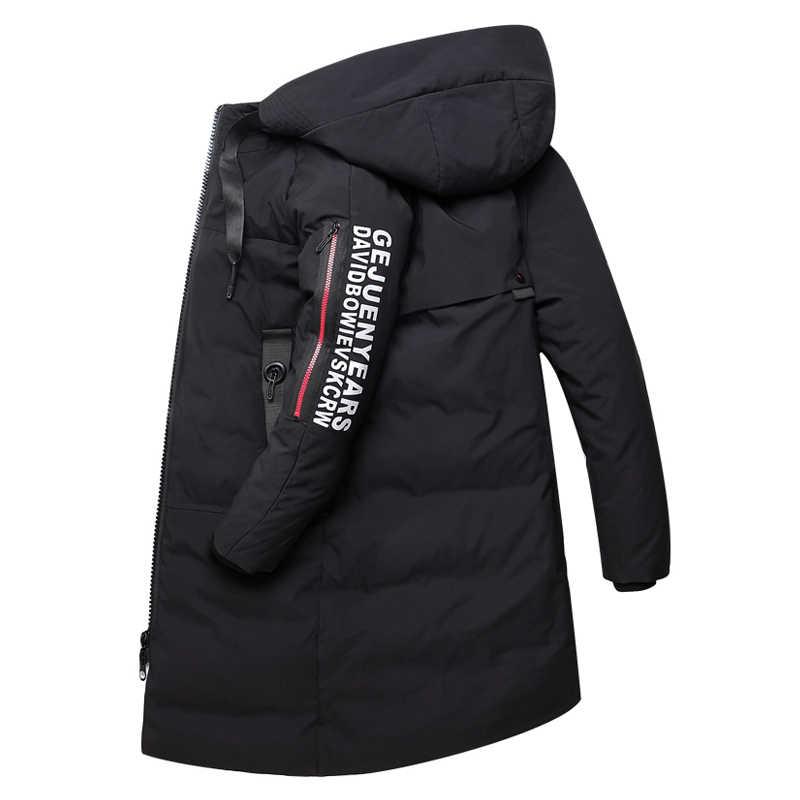 6223631c ... 2018 новая мужская одежда зимняя теплая пуховая куртка Толстая  приталенная пуховая куртка мужская красная черная брендовая ...