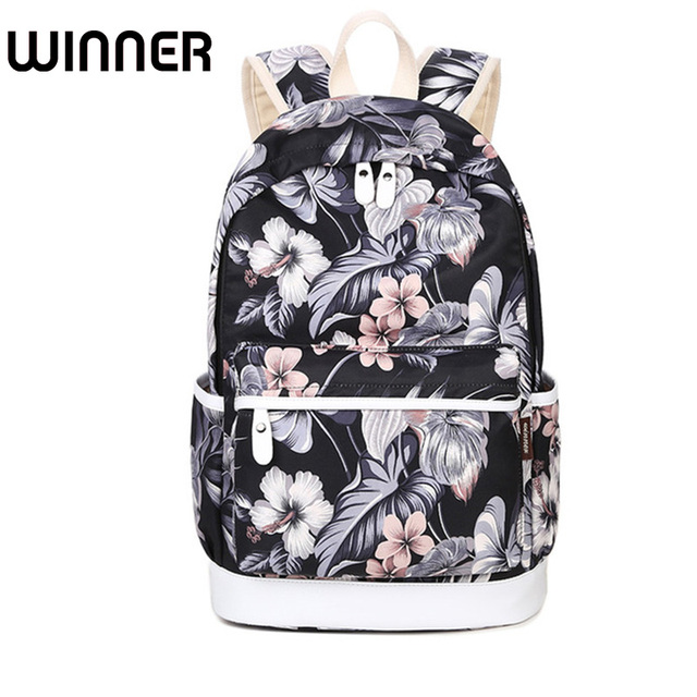 18bbde6db145 Brand Unique Printing Backpack Women Floral Bookbags Waterproof Canvas Backpack  Schoolbag for Girls Rucksack Casual