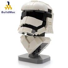 BulidMOC özel sipariş Stormtrooper büstü yıldız Destroyer modeli yapı taşları eğitici çocuk eğitim tuğla oyuncak C060