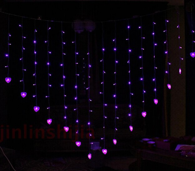 Aliexpress Com Buy 2x1 6m Led Curtian Light Decoration Light For Wedding Indoor Home Decor Heart Led String Light Ac220v From Reliable Decorative Light