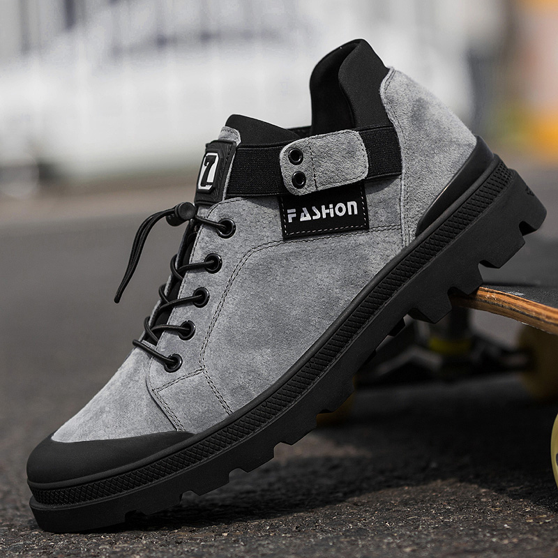 Men's Fashion Casual Shoes High Top Sneaker 2019 Autumn And Winter New Men Shoes High Quality Non-slip Walking Shoe