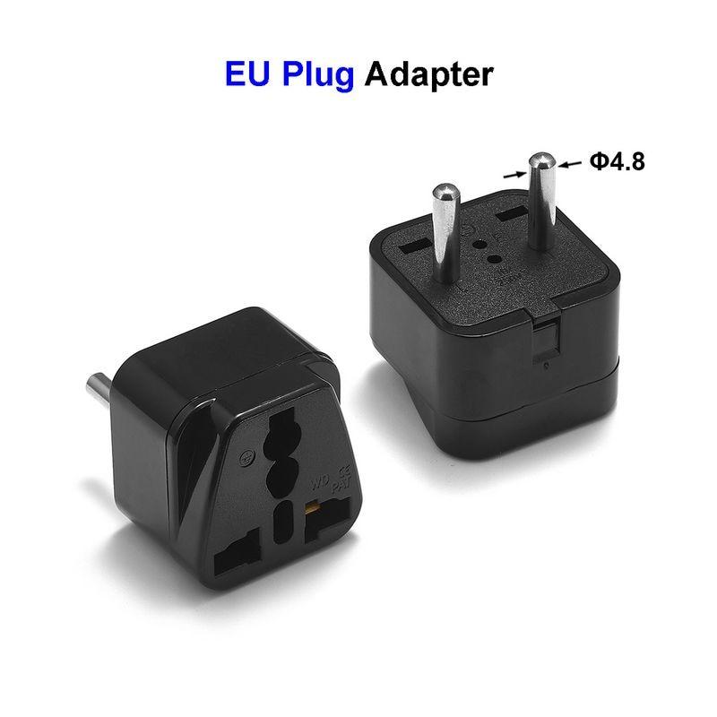 100pcs High Quality Universal EU European Plug US AU UK To EU Euro Europe Travel Plug AC Adapters Power Cables Socket Outlet