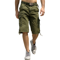 Casual Loose Cotton Military Shorts For Men Excellent Quality Leisure Stylish Bermuda Cargo