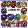 Com o Pacote Original 1 conjunto Lançador de Fusão de Metal Beyblade 4D Beyblade Pião conjunto de Brinquedos Jogo de Crianças Filhos de Presente de Natal