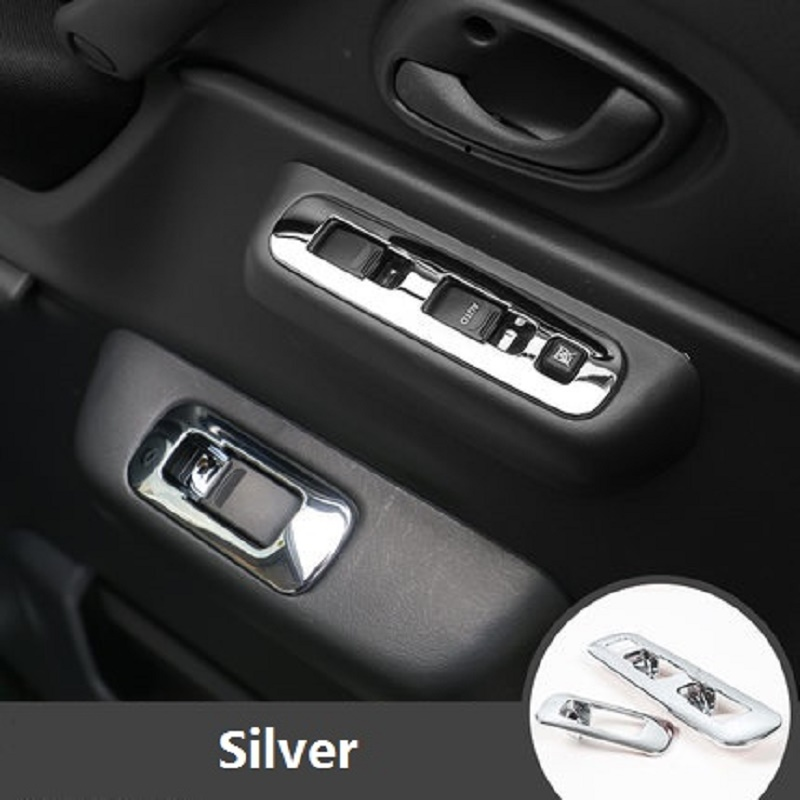 ABS Window Switch Panel Interior Handrail Handle Sticker Suitable for Suzuki Jimny Car Styling Accessories stickers for suzuki jimny car styling jimny sticker auto accessories reflective waterproof vinyl car decals car accessories 1pc